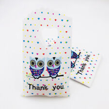 50pcs Owl Plastic Pouches Gift Bags Wedding Party Jewelry Packing Bags 15x9cm