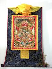 Buddhist Thangka - Printed Bhavacakra Samsara - Wheel of Life Brocade Scroll -M