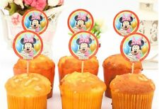12 pcs Cupcake Cup Cake Decorating,Toppers PARTY DECORATION, Minnie Mouse