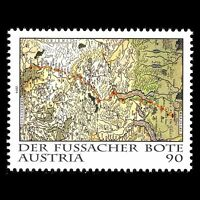 Austria 2014 - The Fussach Courier Maps - Sc 2517 MNH