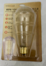 Newhouse Lighting 60W ST64 Vintage Incandescent Filament Edison Light Bulb E26