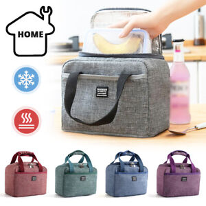 Adult Kids Thermal Insulated Lunch Bag Cool Bag Picnic Lunch Box Food Storage -Z