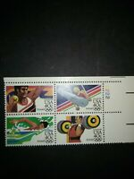 U.S.A. STAMPS PLATE BLOCK AIRMAIL OLYMPICS 1983