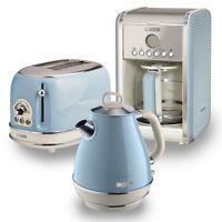 Ariete Retro Style 1.7L Jug Kettle, 2 Slice Toaster & Filter Coffee Machine,Blue
