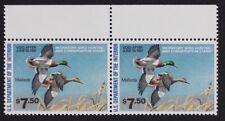 US RW47 1981 Mallards, Pair $7.50 stamps Mint NH