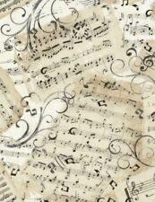 Music Fabric, Timeless Treasures Fabric, Music Sheets, By The Yard, Cotton
