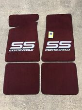 Carpeted Floor Mats - Large Gray Monte Carlo SS on Maroon