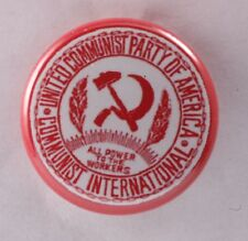 Communist Party USA CPUSA Pin Badge Button America Labor 1""