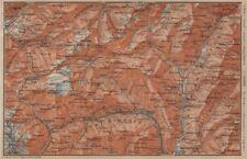 PASSO del SEMPIONE & VAL Antigorio. Limes VAL DIVEDRO CRODO Agaro TOPO-MAP 1905