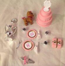 Vintage Barbie Doll Pretty Treasures Avon Silver Wedding Dollhouse Accessories