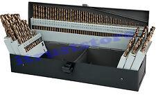 LARGE BIG 115 PC PIECE METAL COBALT FRACTIONAL DRILL INDEX BIT SET STEEL COLBALT