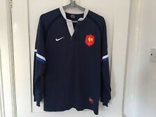 Maillot rugby France NIKE TEAM shirt jersey M early 2000s