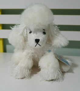 WEBKINZ GANZ POODLE  DOG SOFT TOY PLUSH TOY ONLINE GAME 18CM TALL WHITE POODLE