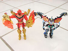 """Power Rangers lot of 2 1 red Ranger Transforming and 1 other 5-6"""" Bandai 05&08"""