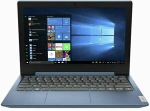"""Lenovo IdeaPad 1 Slim 11.6"""" HD Intel N4020, 4GB, 64GB SSD Win10 BLUE Laptop A"""