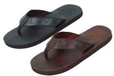 Brand New Men's Lightweight Faux Leather Flip Flops Sandals