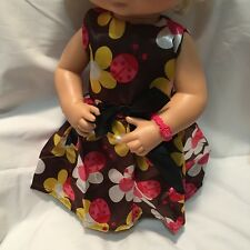 """Fits 15"""" 16"""" Baby Alive Doll Clothes Party Dress Flower Ladybug Dress (NO DOLL)"""