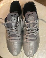 NIKE Spikes CLEAT Silver Size 12 Sport Sneakers Shoes Athletic