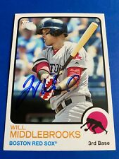 WILL MIDDLEBROOKS 2014 TOPPS ARCHIVES AUTO IP SIGNED BOSTON RED SOX 1973 RARE