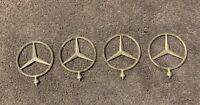 OEM Vintage Collectible Mercedes-Benz Silver Hood Ornament Emblem Logo Advertise