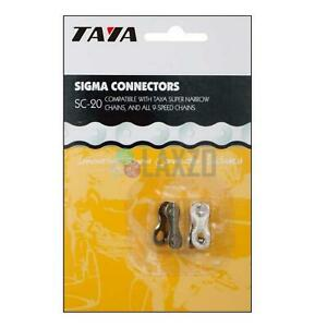 Nine Taya Chain 9 Speed 116 Links Silver//Black x bike 27,5-29 MTB Mountain B