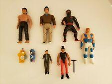 Vintage Action Figure Lot (8) Karate Kid, A Team, Mash, Chuck Norris, Care.