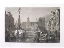 1 Original anonymus Aquatinta ca. 1850 GENT GAND GESAMTANSICHT
