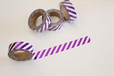 Metallic purple stripes washi tape, Cute Washi Tape, Planner accessories