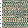 Turquoise/Ivory Woven Stripe Home Decorating Fabric, Fabric By The Yard