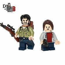 The Last of Us Joel and Ellie Minifigures. Made using LEGO & custom parts.