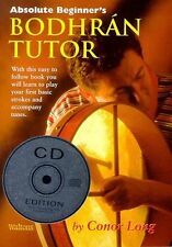 WALTONS BEGINNERS BODHRAN TUTOR BOOK + CD EDITION by CONOR LONG IRISH CELTIC