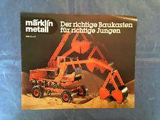 MODELLISMO FERROVIARIO CATALOGO MARKLIN METALL 1980 EDIZIONE TEDESCA