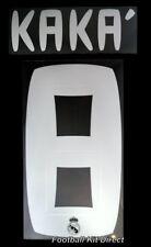 Real Madrid kaka 8 Football Shirt Name/Number Set Away 2010-11