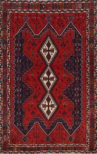 Vintage Tribal Geometric Hand-knotted Area Rug Home Decor Oriental Carpet 6x8