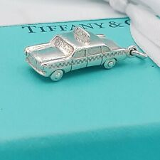 Genuine Rare TIFFANY & CO 925 SILVER New York City TAXI CAB CHARM PENDANT