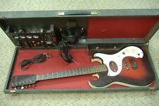 Vintage 1964 Silvertone Danelectro 1457 amp-in-case electric guitar 100% orig NR