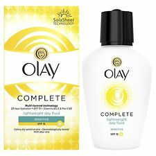 Olay SPF15 Complete Lightweight 3-in-1 Moisturiser Day Fluid Sensitive - 100 ml