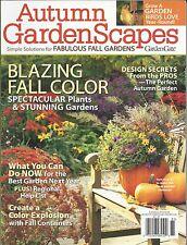 Autumn Garden scapes magazine Fall color Pro design secrets Birds Containers
