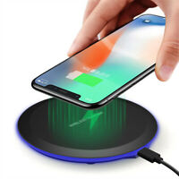 Qi Wireless Charger Ladegerät Dock Pad Mat Für iPhone 8 X XS Samsung S10 S9 S8
