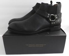 NIB Frye Mens Black Leather Scott Chelsea Harness Boots Size 9.5 D Medium