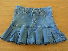 Girls Pumpkin Patch Denim Skirt  Adjustable Waist Pleated Size 5