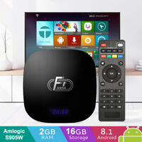 A95X F1 Smart TV Box Android 8.1 Quad Core WiFi 4K 2GB/16GB DLNA Media Player