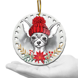 Chihuahua Christmas Ornament-Dog lover gifts-Chihuahua lover gift