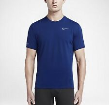 Nike Dry Contour Men's Running Dri-fit Training Top 'Deep Royal' (S) 683517 455