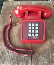 Vintage 1979 Bell System Western Electric 2500 Red Desk Telephone Phone Retro