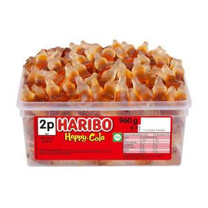 Haribo Happy Cola Bottles Tub 960g