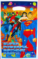 JUSTICE LEAGUE SUPERHEROES  PARTY LOOT/LOLLY BAGS - PARTY SUPPLIES - PACK OF 10
