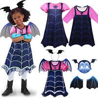 Girl Kid Princess Vampirina Dress Fancy Costume Party Carnival Cosplay Halloween