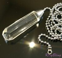 Bathroom Light Pull Chain. Crystal Effect Polished Chrome Pull Cord Replacement!