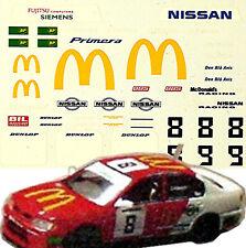 Nissan Primera GT P11 Nissan Racing #8 J.Nielsen + #9 T.Thyring 1:43 Decal